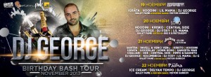 DJ George - Birthday Bash Tour - November 2013 - Timeline